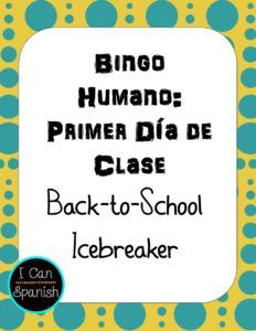 Bingo Humano: Great Icebreaker for the first day of class!
