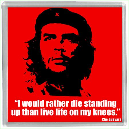 """I would rather die standing up than live  life on my knees.""~Che Guevara"