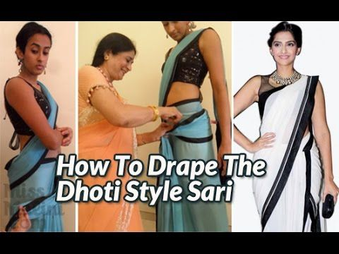 "Exclusive: How To Drape The ""Dhoti"" Sari Like Sonam Kapoor! - MissMalini.com"