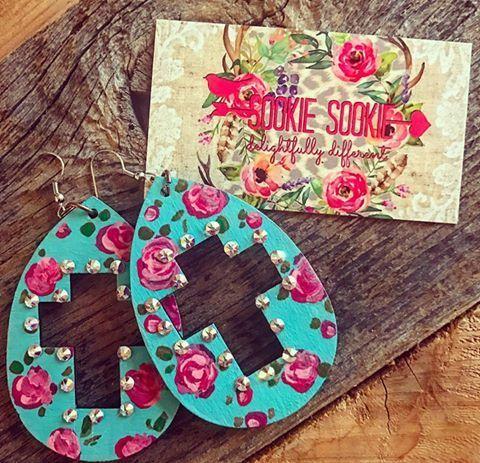 Wooden Miranda Luxe Earrings - Sookie Sookie, LLC