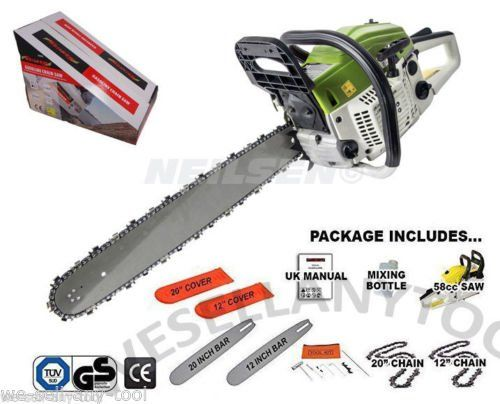 "20"""" Petrol Chainsaw Complete With Bar, Chain"