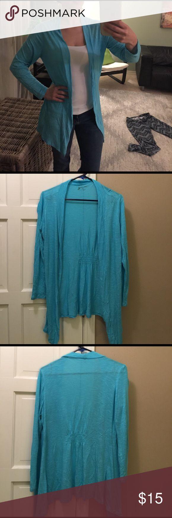 Turquoise cardigan Soft, like new, turquoise cardigan. Sweaters Cardigans