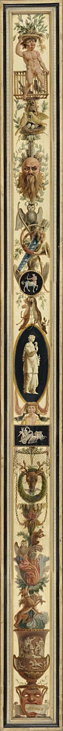 November, with the Sign of Sagittarius, Jan Kamphuysen, 1790 - 1791