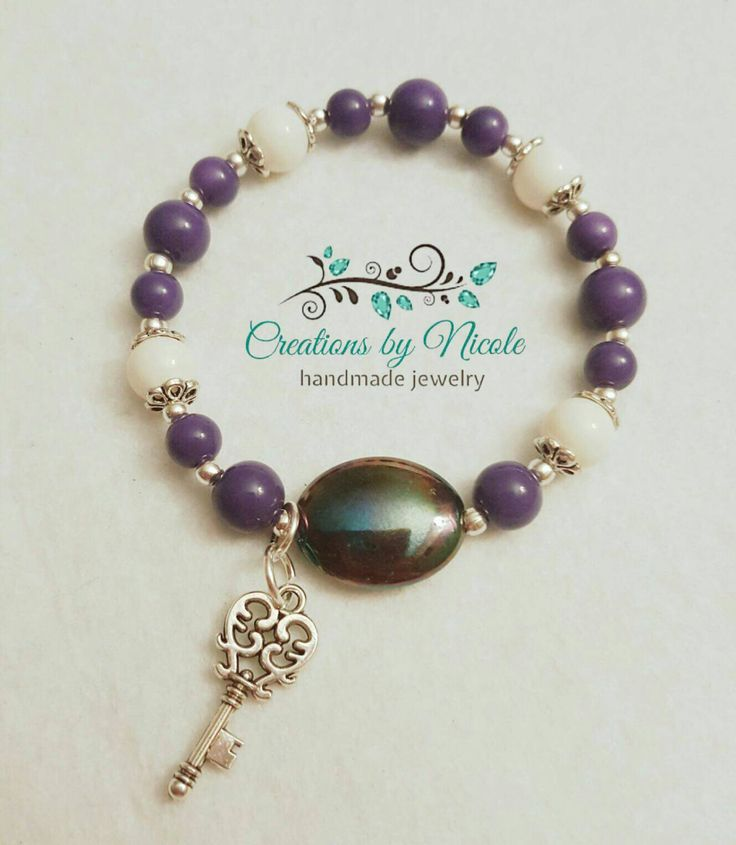 Purple Chic Bracelet by CreationsByNicDesign on Etsy