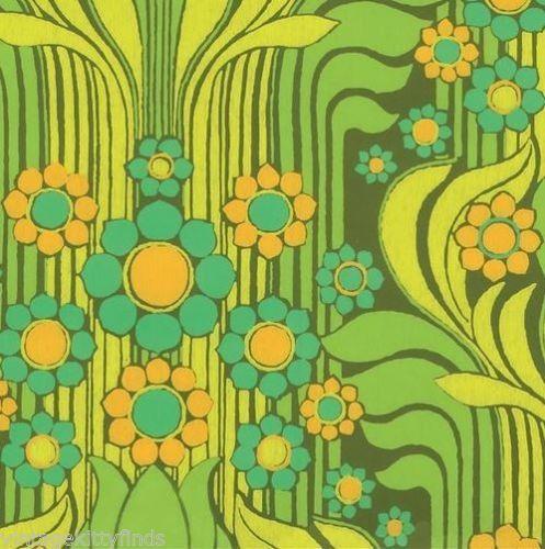 Wall Flower  Serafini Amelia  Vintage Flower Power Wallpaper - Newly Reduced!!