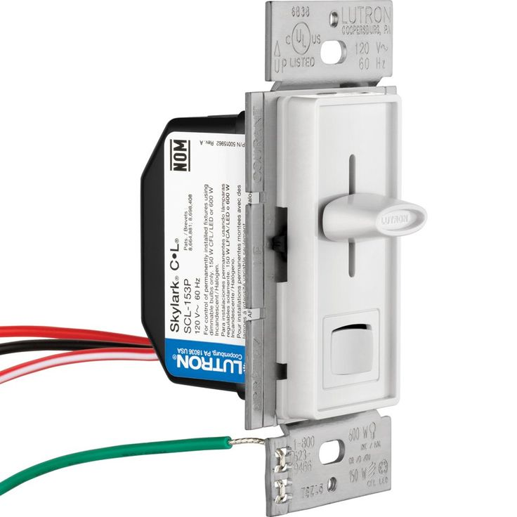 Lutron Skylark C L Dimmer Switch For Dimmable Led Halogen And Incandescent Bulbs Singlepole Or 3way Scl153pwh White Read More At The Led Dimmer Lutron Led