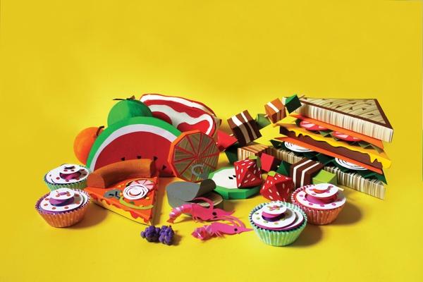 What a Waste! by Katie Jayne Roberts #paper #food