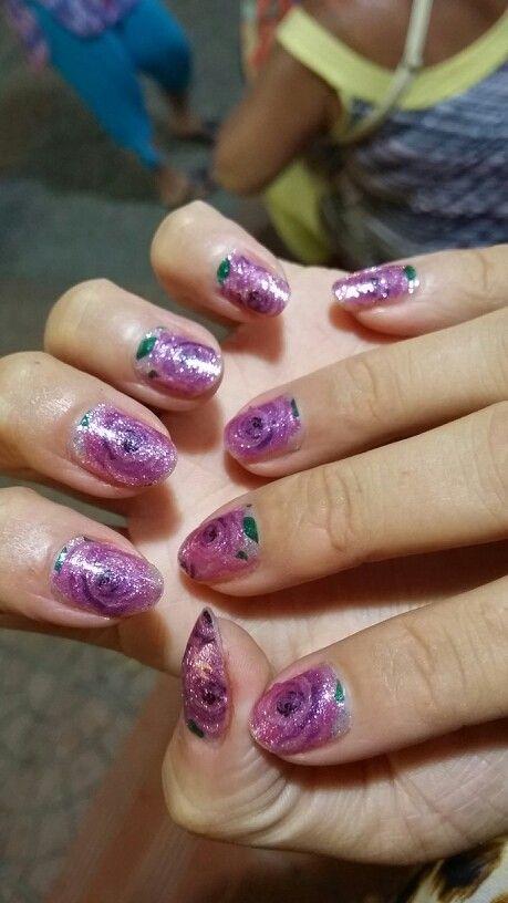 Rose nails!
