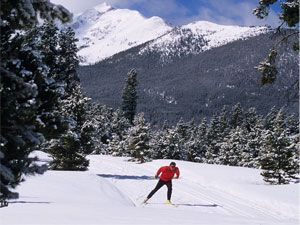 Frisco Nordic Center offering Nordic skiing and snowshoeing.