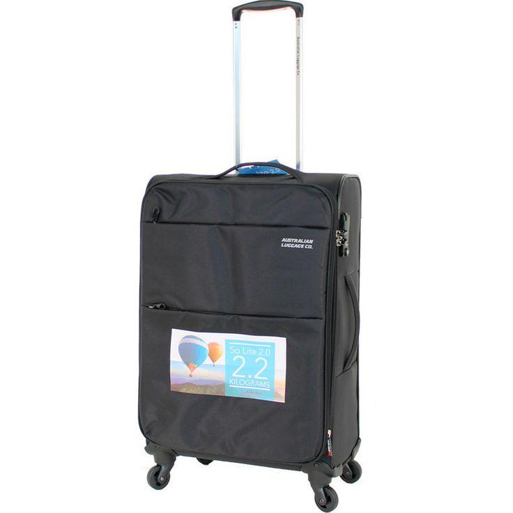 Aus Luggage So Lite 2.0 4 Wheel Suitcase in Black   Buy 4 Wheel Suitcases
