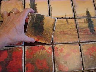 DIY Tile Backsplash! Make your own tile mural!! CHEAP!!!