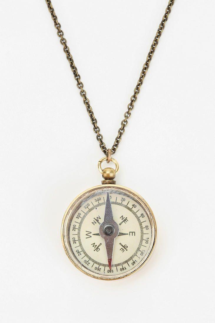 UO I Compass Necklace