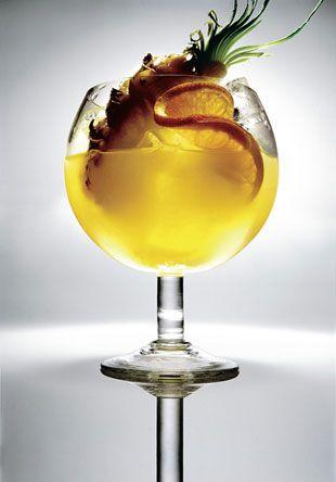 Goombay smash-- Light rum, dark rum, gold rum, coconut rum, orange juice, pineapple juice.....floor. YUM!