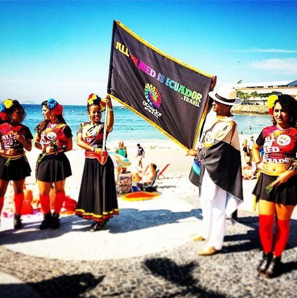 #elmundialconlahinchada de Ecuador en #rio #brasil2014