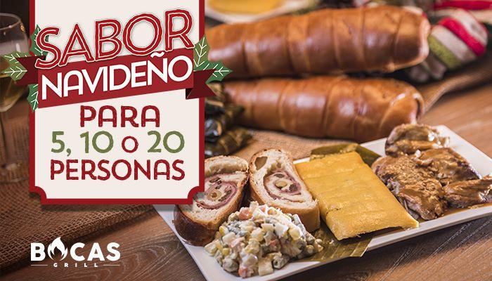¿Tienes fiesta con amigos y familiares en esta Navidad? Ahora pueden disfrutar en casa de todo el sabor navideño al mejor estilo #BocasGrill. Tenemos para ustedes combos navideños para 5, 10 o 20 personas. #Food