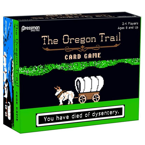 Relive the golden days of biting the dust from bloody diarrhea with The Oregon Trail Board Game, and enjoy other fun things, too, like killing Bambi and Thumper to keep from starving and conducting funerals to keep morale high. If you went to school in the 80s, there's an excellent chanc