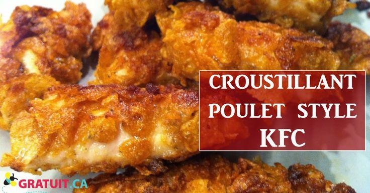 Cette recette de style KFC peut être faite des morceaux de poulet ou du blanc de poulet pour en faire des croquettes.
