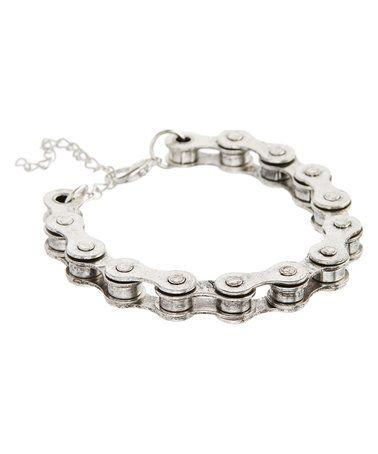 Love this Steel Bike Chain Bracelet on #zulily! #zulilyfinds #pavcus #hotdeal #bracelet #necklace #bling #mensfashion #menjewelry #jewelry #jewelrysale #giftidea #sale #gift #fashion #fashionjewelry #pavcusdesigns #bracelet