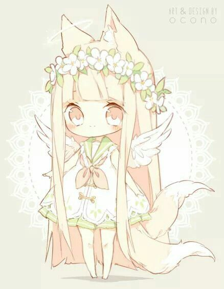 Chibi kitsune, so cute!!                                                                                                                                                                                 More