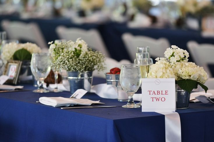 red, white and navy blue wedding reception ideas | Red White Blue July 4 Virginia Wedding Reception Centerpieces2 550x365 ...