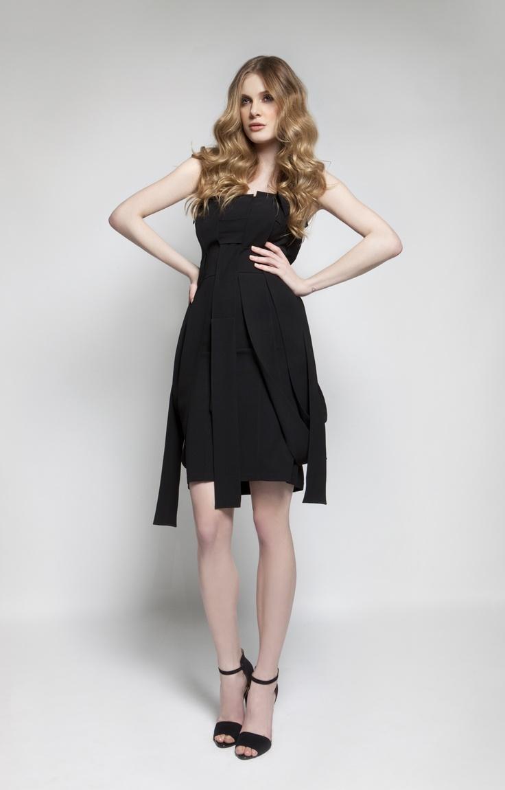 CHRISTOS COSTARELLOS AW 12-13 Crepe Short Dress.