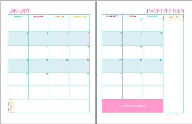 Calendar Binder Printables : Calendar free printables and on pinterest