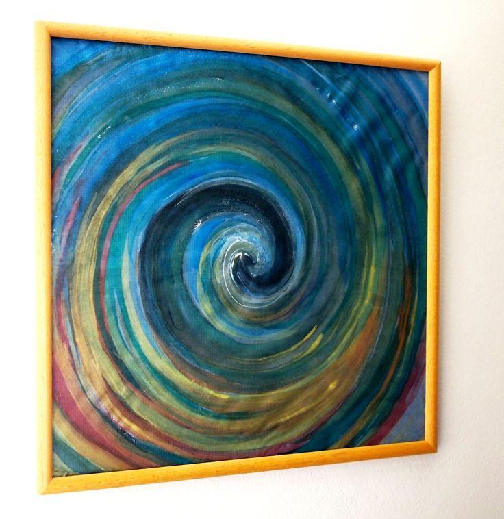 ❀ Cena: 580 CZK + 79 CZK doprava ❀ Voda jako zdroj života, divoká, nespoutaná, jindy klidná, hravá a tišivá, měkká, načechraná, pěnivá, nebo temná a neznámá... Život s námi leckdy umí pořádně zatočit. Obraz malovaný na hedvábí hraje všemi barvami moře, nezačíná, nekončí. Malovaný profesionálními barvami, zarámovaný v dřevěném rámečku, zasklený. 31x31 cm | vavavu
