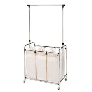 Seville 3-Bag Laundry Sorter with Hanging Bar - 16939751 - Overstock.com Shopping - Great Deals on Seville Classics Hampers