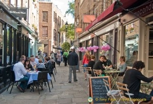 Camden Passage, London.  A great place to visit - lots of lovely stalls, shops, cafes and pubs.