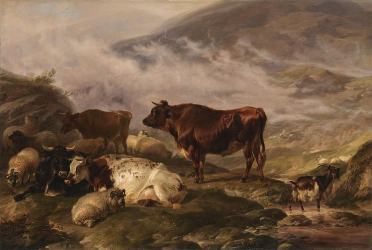 Thomas Sidney Cooper 'Among the Cumberland Mountains - Mist Clearing Off', 1847, exhibited 1847