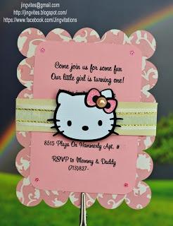 Hello Kitty Birthday Invitations Cricut