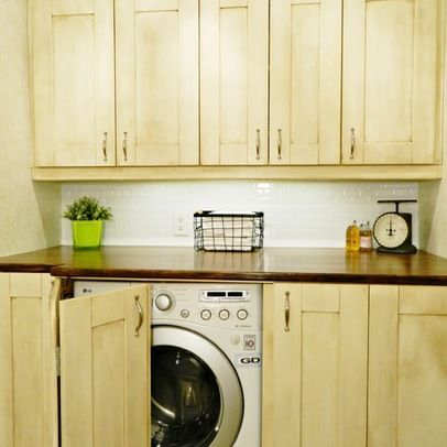 Built In Washer And Dryer Keep It Organized Pinterest