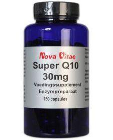 Nova Vitae Super Q10 30 mg   Vitamine E 150 capsules - Q10 Hoe meer Q10 er in de cellen aanwezig is, hoe beter de energie huishouding van de cellen zal zijn. Naarmate een mens ouder wordt neemt het vermogen van de lever om Q10 te maken af en kan er een tekort aan dit co-enzym ontstaan. We raken dan sneller vermoeid, onze vitaliteit loopt terug, en de weerstand van ons lichaam begint af te nemen, waardoor we sneller ziek worden. Vitamine E: Vitamine E of tocoferol is een in vet oplosbare…