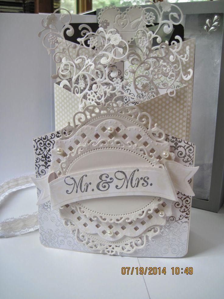 words to write in wedding shower card%0A Emily u    s Creative Designs  Concertina fold Wedding card