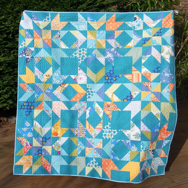 Brit Bee Constellation Quilt by Flying Blind On A Rocket Cycle, via Flickr
