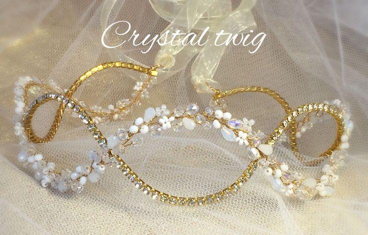 Купить Нежный веночек для прически невесты 5 - венок для невесты, венок на голову, веночек для волос