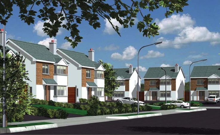 rendering of a housing estate