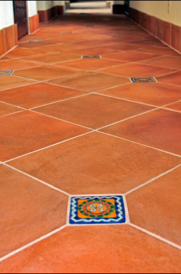Saltillo tile mexican pavers tile pinterest the edge for Spanish style floor tiles