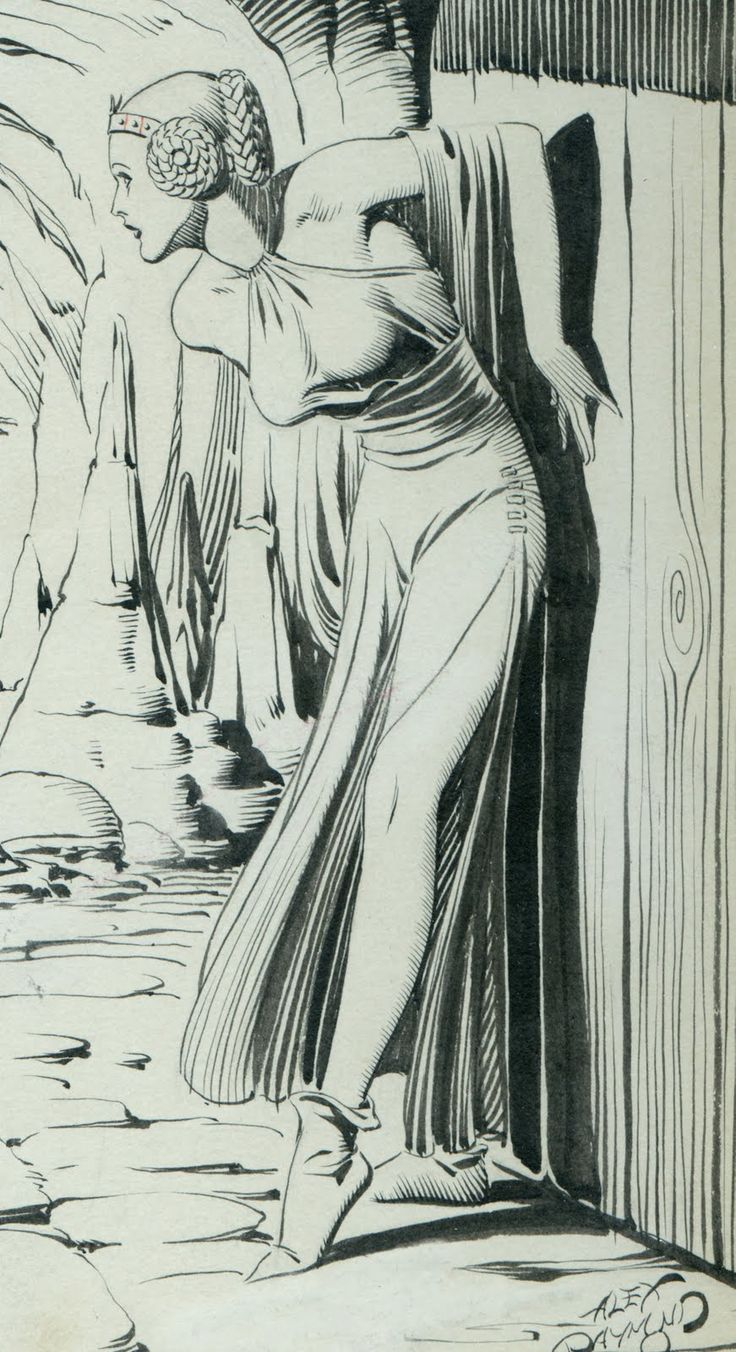 Alex Raymond - Flash Gordon - Dale Arden - illustration - Princess Leia was directly influenced by Alex Raymond's Work