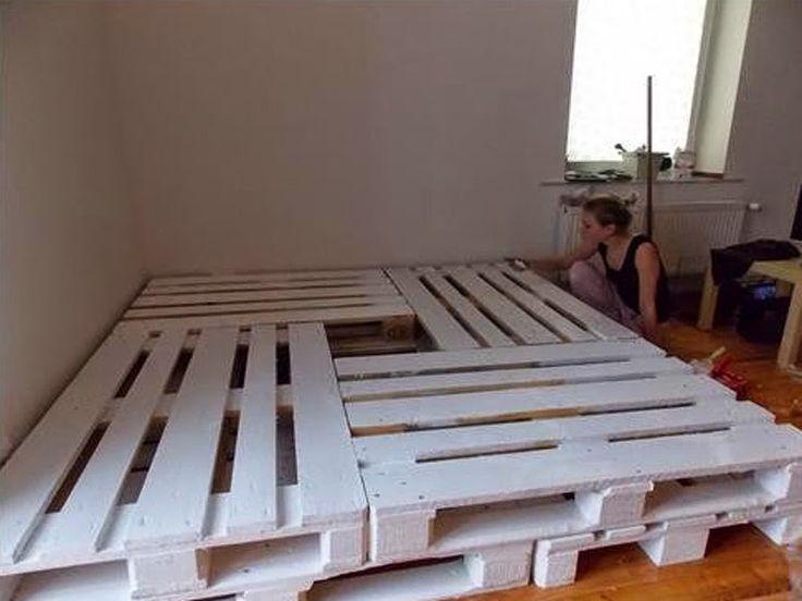 Muebles de tarimas de madera camas buscar con google for Tarimas de madera para cama