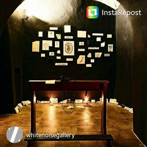Jesus Herrera - project room at White Noise Gallery. #art #contemporary #exvoto #rome