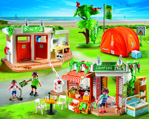 5 Camping Themed Construction Toys: Camp Site