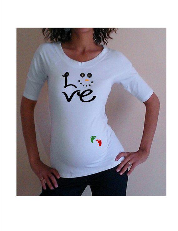 Christmas Maternity Shirt Cute Maternity Shirt Love