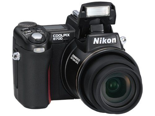 Nikon Coolpix 8700 8MP Digital Camera with 8x Optical Zoom by Nikon. $729.99. Amazon.com                Amazon.com Product Description Boasting an impressive 8-megapixel resolution and 8x optical zoom lens, the Nikon Coolpix 8700 is a great choice for professional and advanced amateur photographers. Compared with its predecessor--Nikon's Coolpix 5700--the Coolpix 8700 has a faster start-up time, faster data recording, shorter release time lag and a new AF-Assist illuminator for q...
