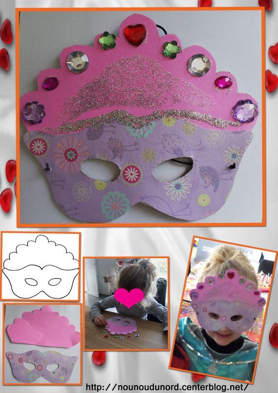 Masque de princesse que Soline a réalisé pour le carnaval