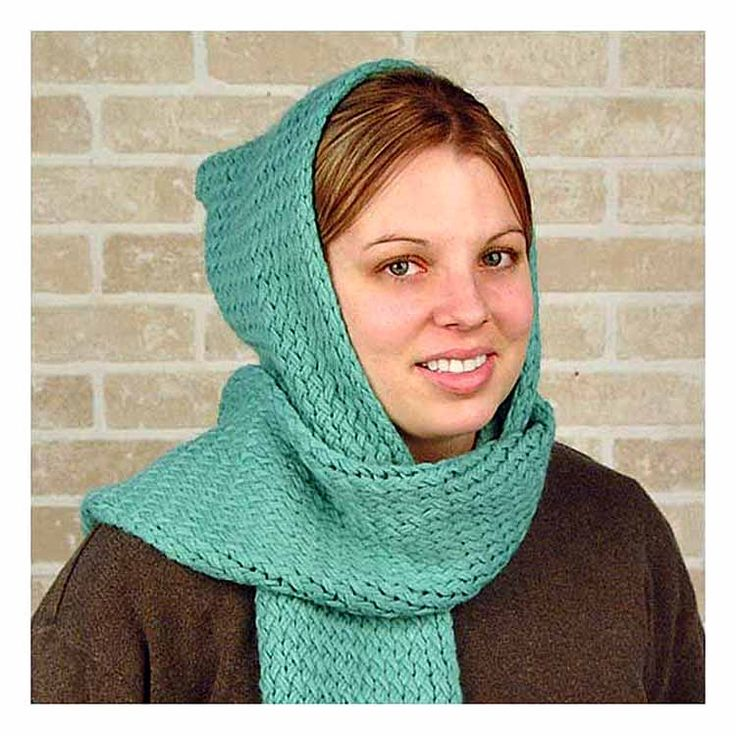 Hooded Circle Scarf Knitting Pattern : Hooded scarf Knitting Loom Pinterest