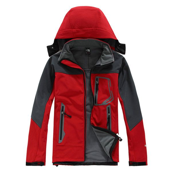 Plus Size Winter Water Resistent Wind Proof Fleece Outdoor Skiing Parka Jacket for Men