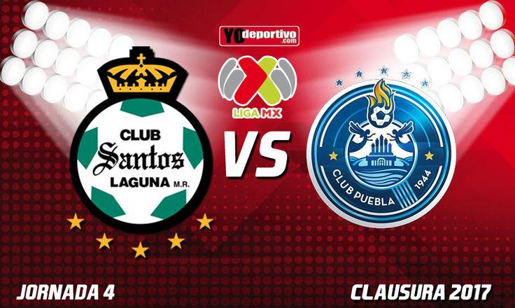 Jornada 4 Liga MX Clausura 2017  Santos Laguna vs Puebla / Torneo de Clausura / Temporada 2016-2017 / Domingo, 29 de Enero de 2017 / Estadio TSM Corona / Marcador Final 2-0