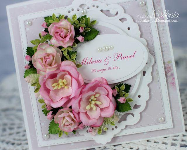 Moja papierowa kraina: Kartka na ślub