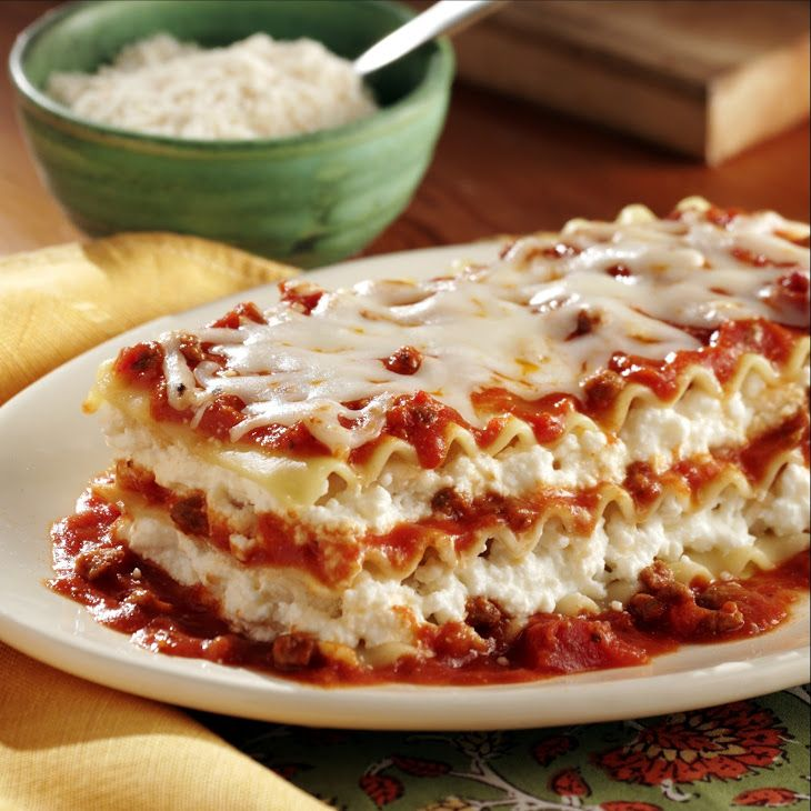 No Boiling Lasagna Recipe Main Dishes with ricotta cheese ...